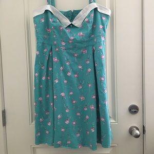 Torrid Retro Chic Flamingo Pin Up Dress